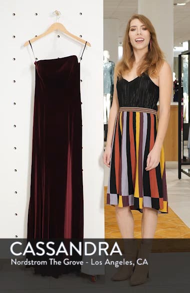 Strapless Velvet Gown, sales video thumbnail