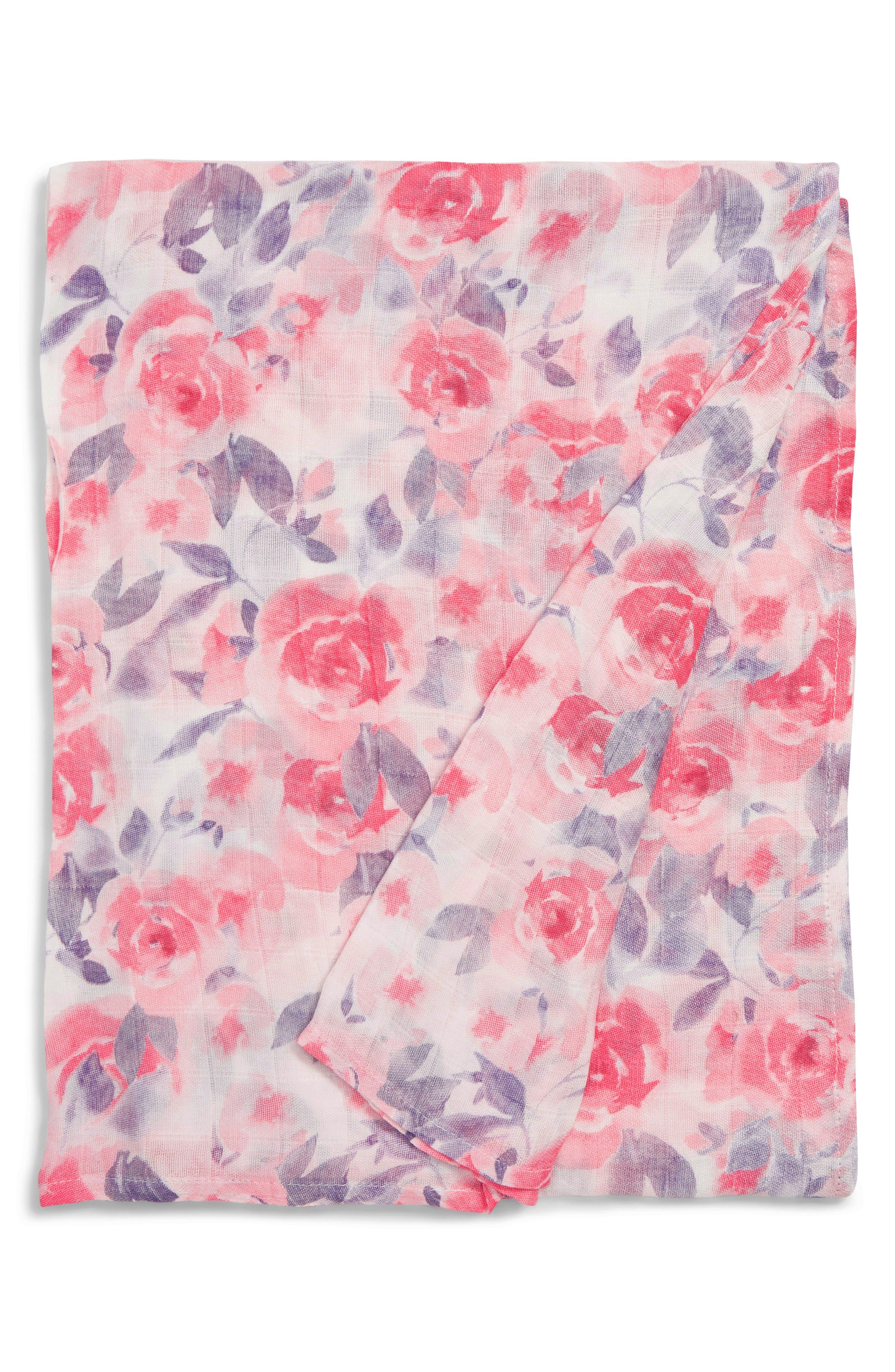 Aden  Anais White Label Stargaze Silky Soft Swaddling Cloth Size One Size  Pink