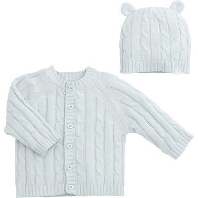 Infant Elegant Baby Cable Knit Sweater & Hat Set