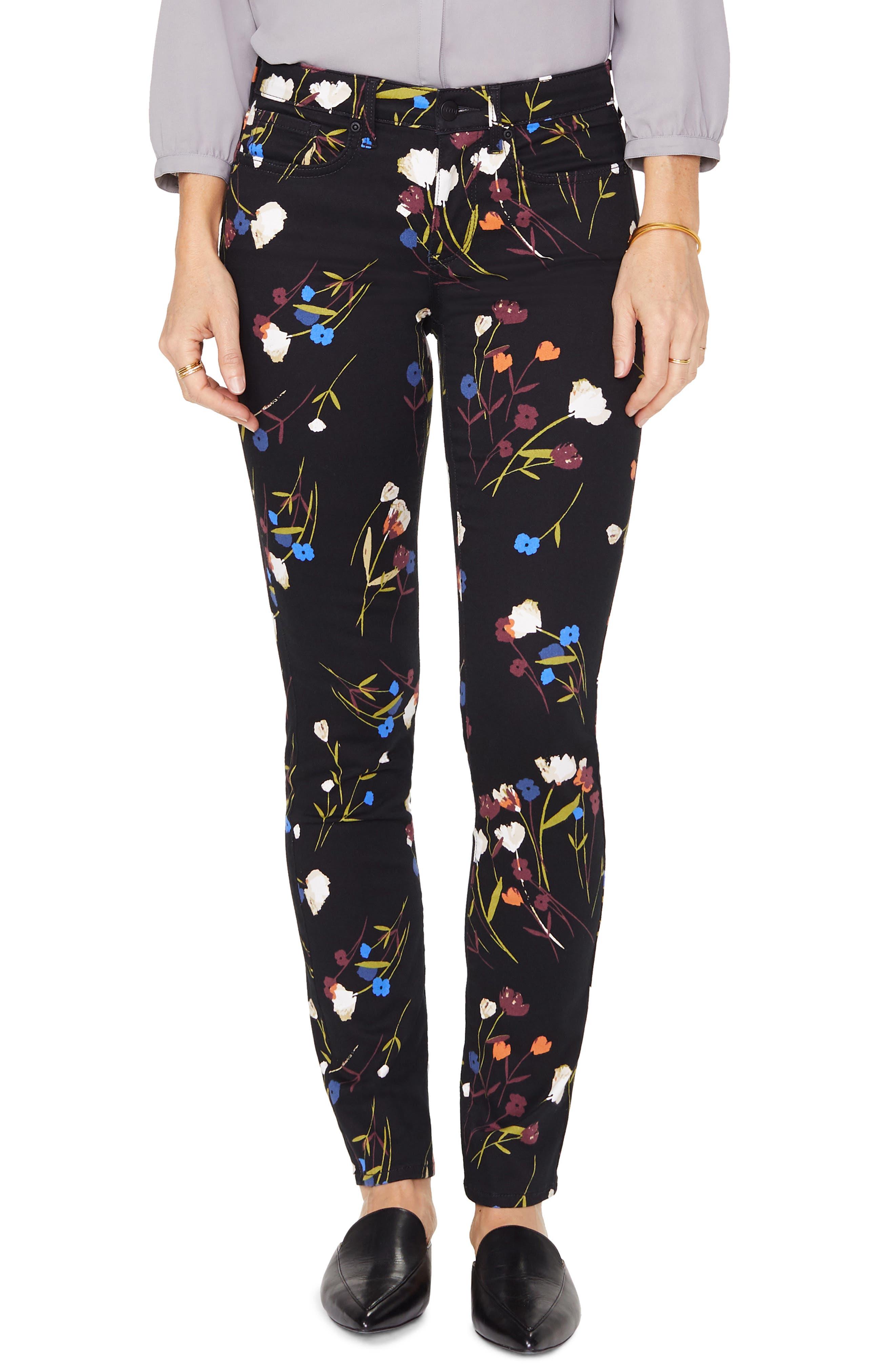 Women's Nydj Alina High Waist Stretch Skinny Jeans,  8 - Black