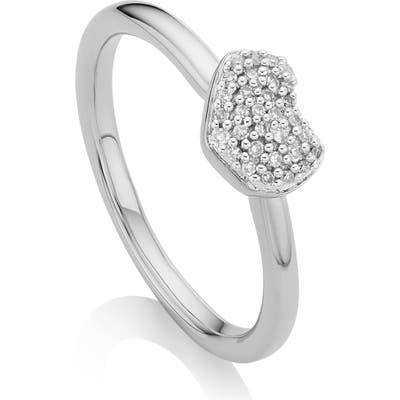 Monica Vinader Nura Mini Diamond Heart Ring