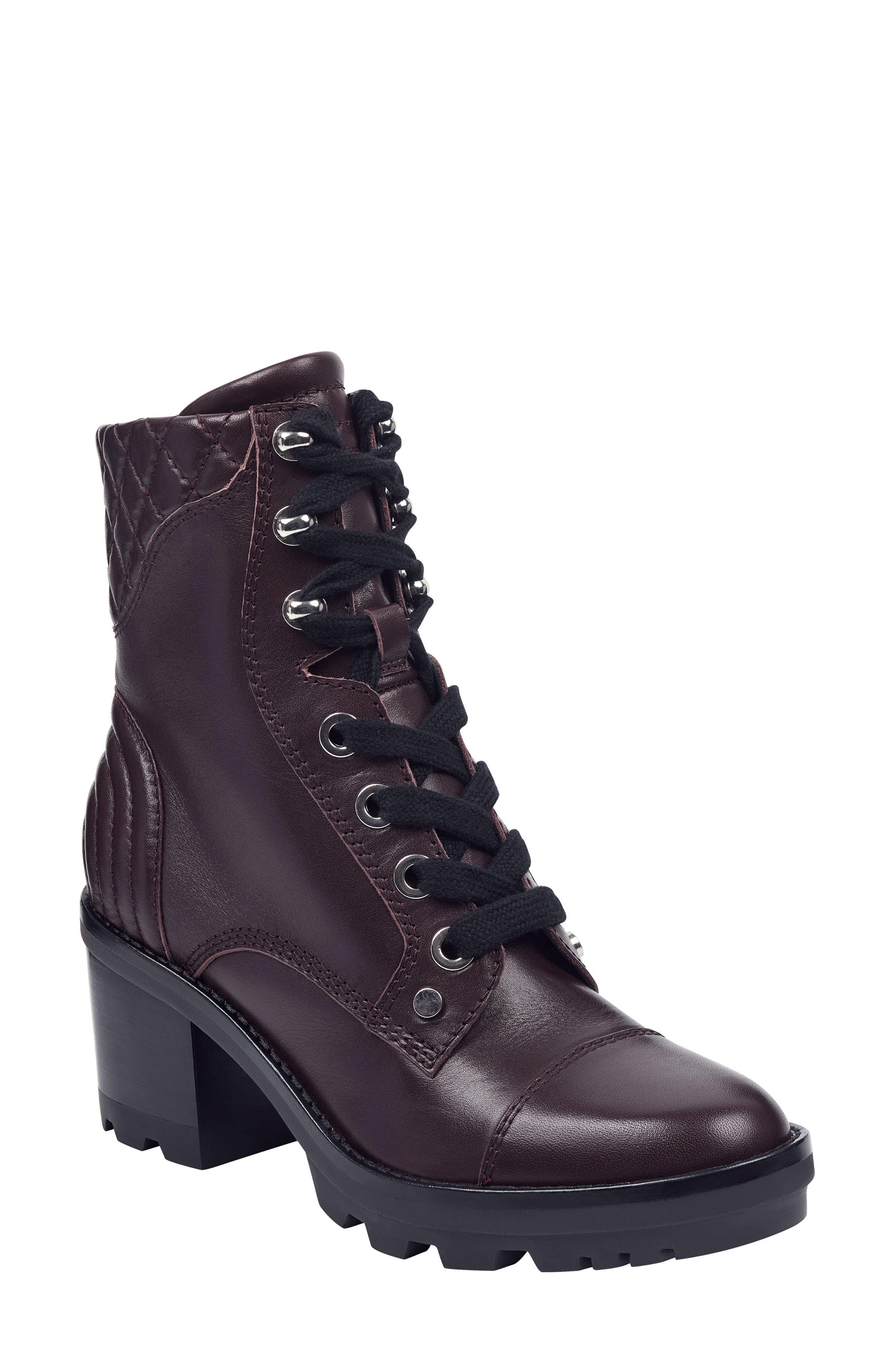 Marc Fisher Ltd Wyomi Platform Boot- Burgundy