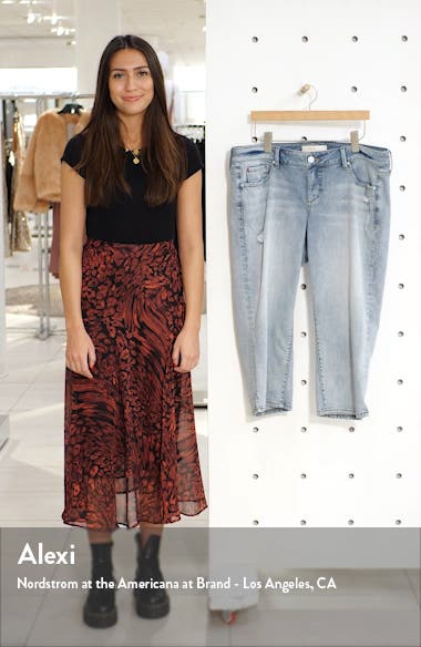 Distressed Crop Straight Leg Jeans, sales video thumbnail