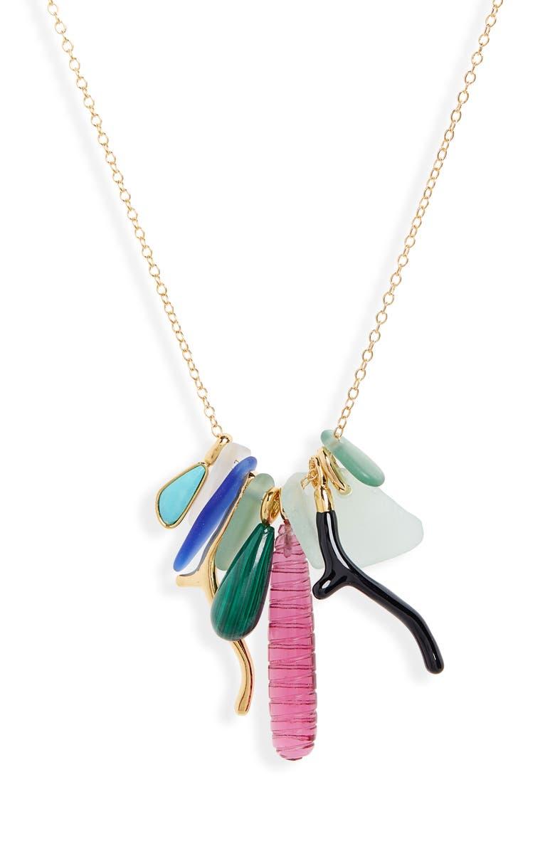 LIZZIE FORTUNATO Ligurian Charm Necklace, Main, color, 440