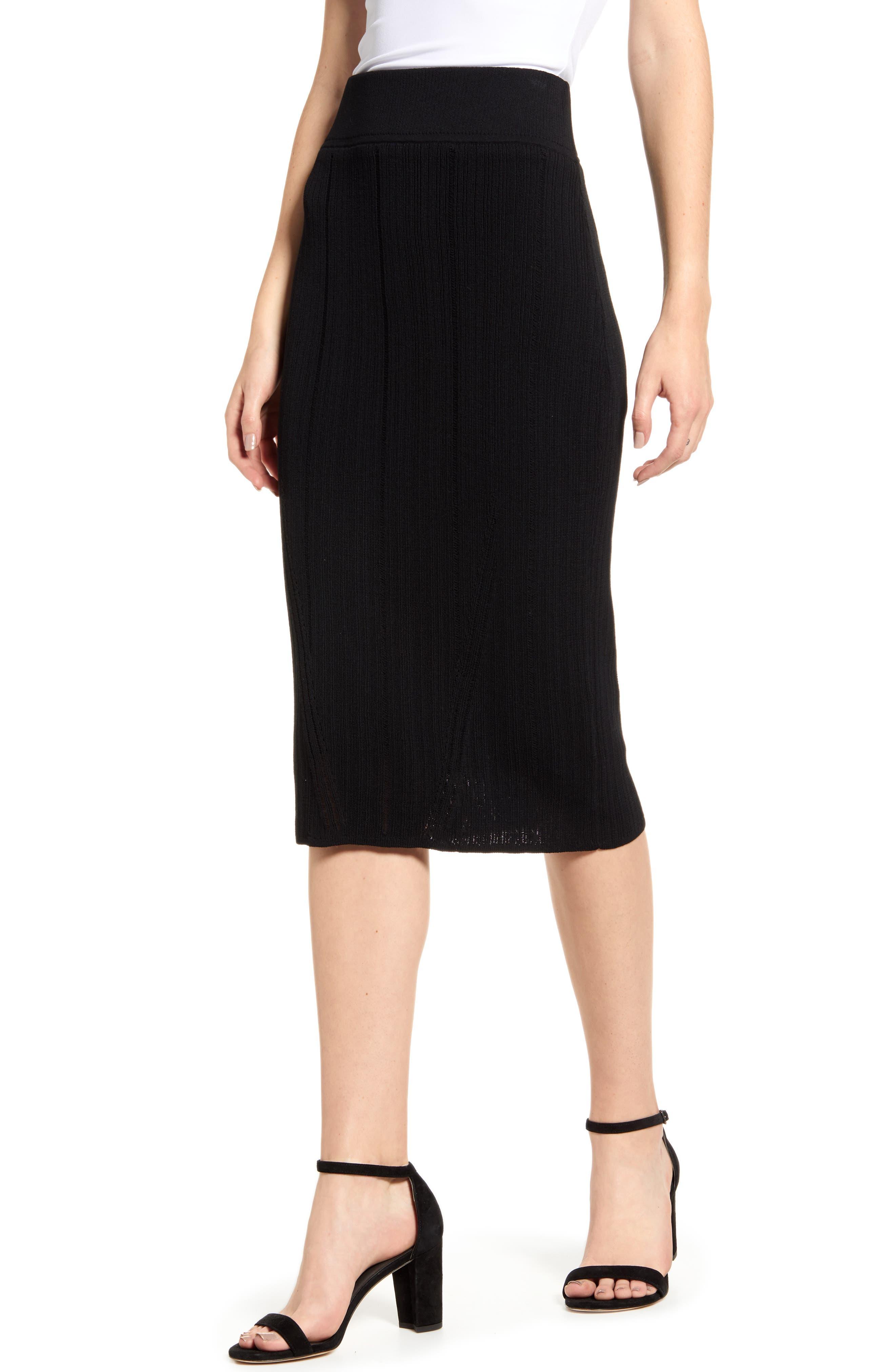 Rachel Roy Collection Pleated Skirt, Black