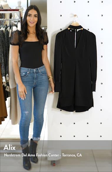 Garrison Cutout Long Sleeve High/Low Minidress, sales video thumbnail
