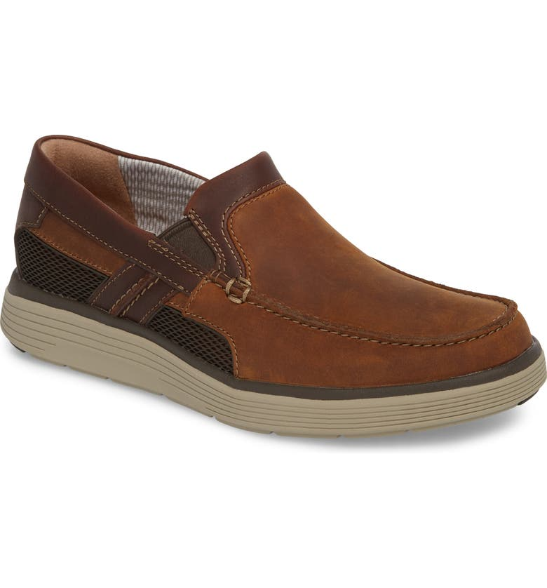 CLARKS<SUP>®</SUP> Un Abode Free Loafer, Main, color, LIGHT TAN NUBUCK
