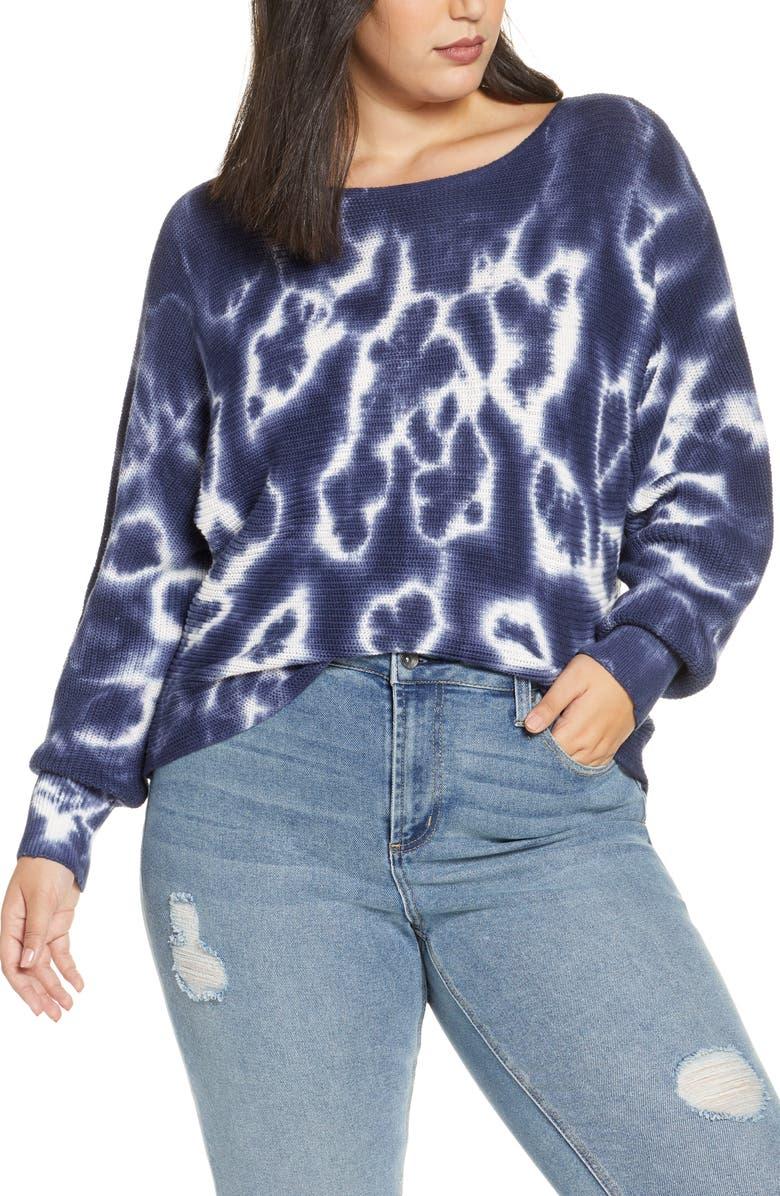 BP. Tie Dye Sweater, Main, color, NAVY PEACOAT TIE DYE