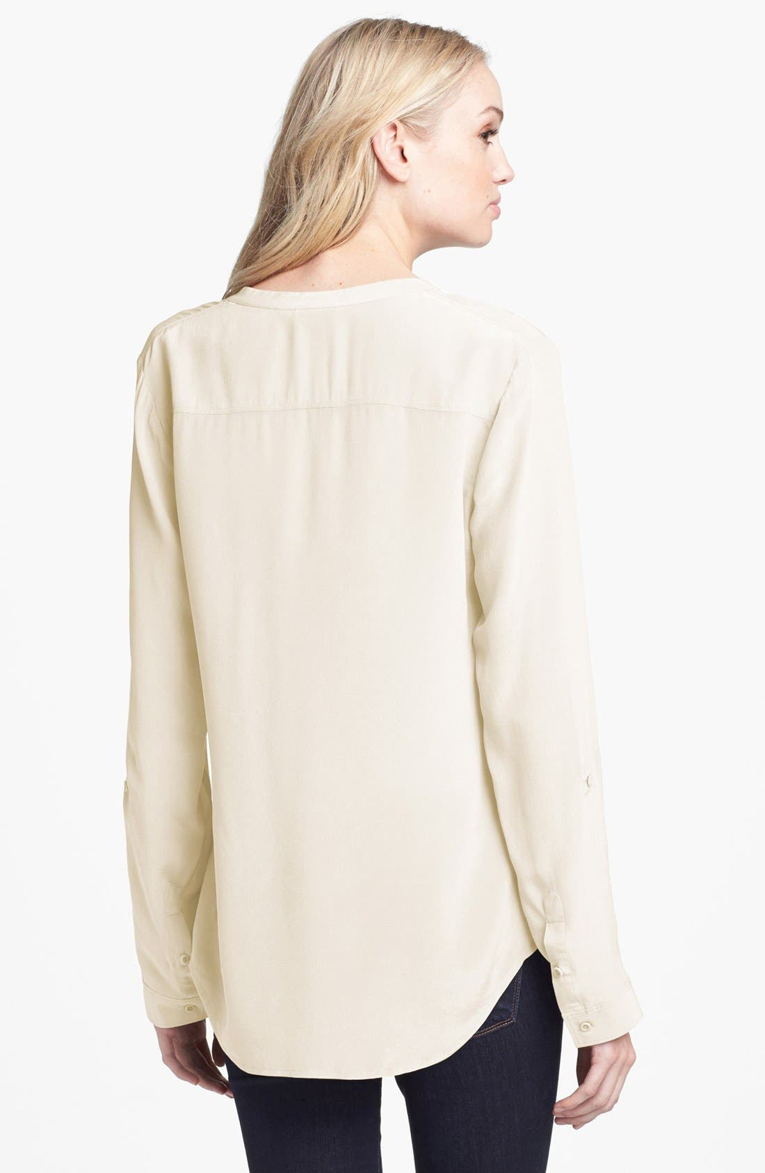 ,                             Collarless Silk Blouse,                             Alternate thumbnail 30, color,                             101