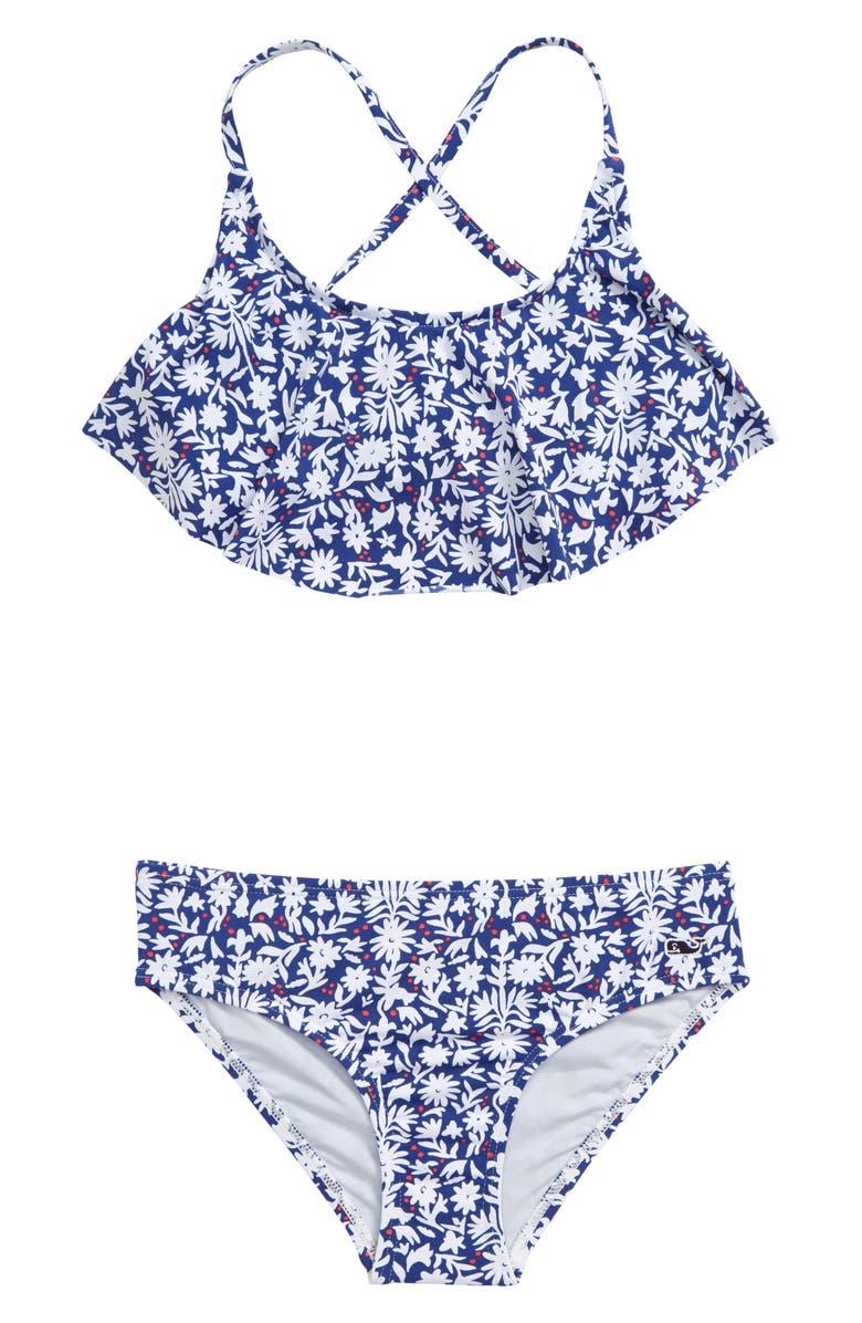 VINEYARD VINES Flounce Two-Piece Swimsuit, Main, color, 401