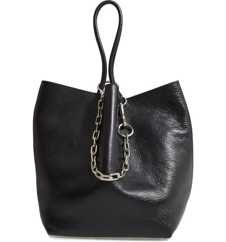 ALEXANDER WANG Large Roxy Leather Tote Bag, Main, color, 001