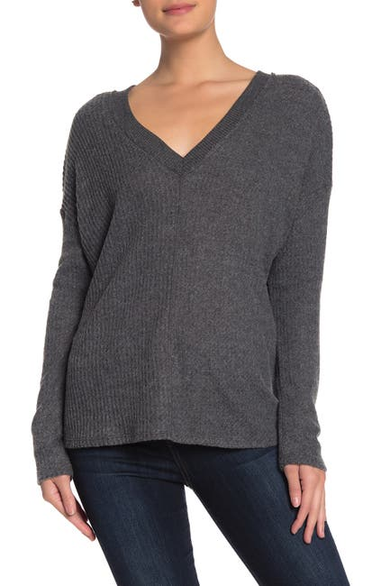 Image of PST by Project Social T Long Sleeve V-Neck Thermal Top