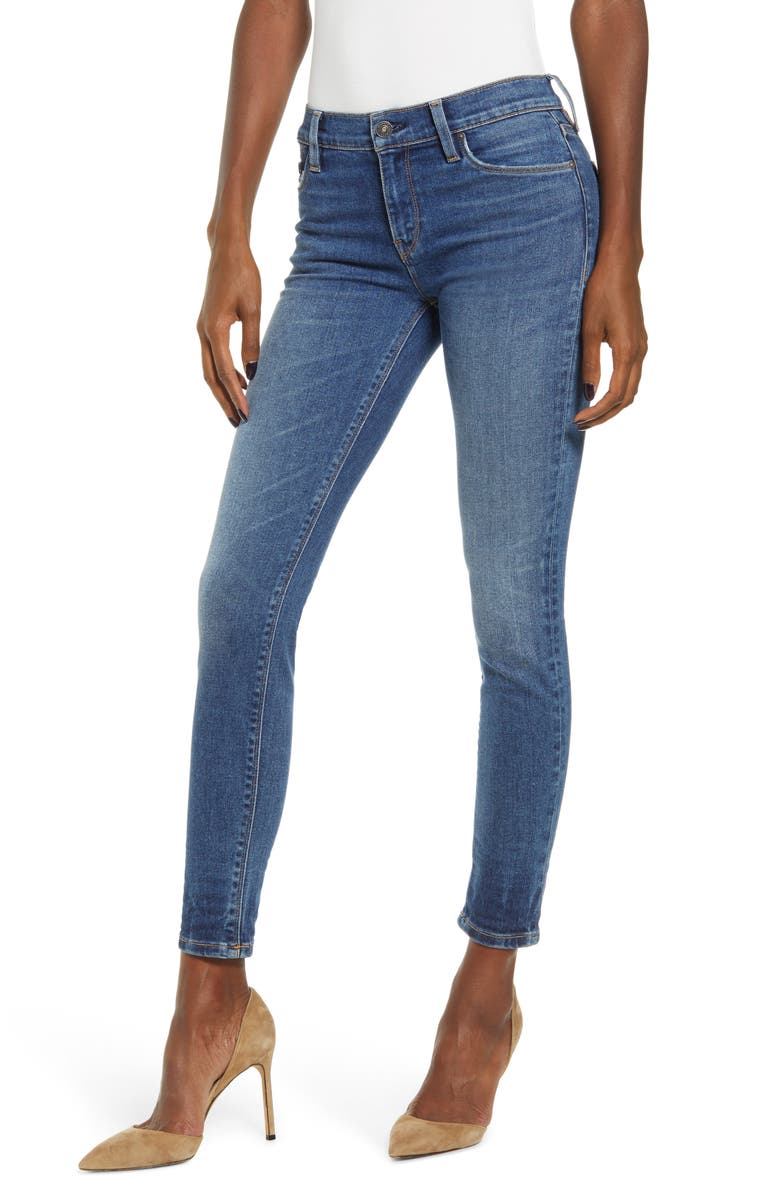 Hudson Jeans Nico Ripped Ankle Skinny Jeans Friction