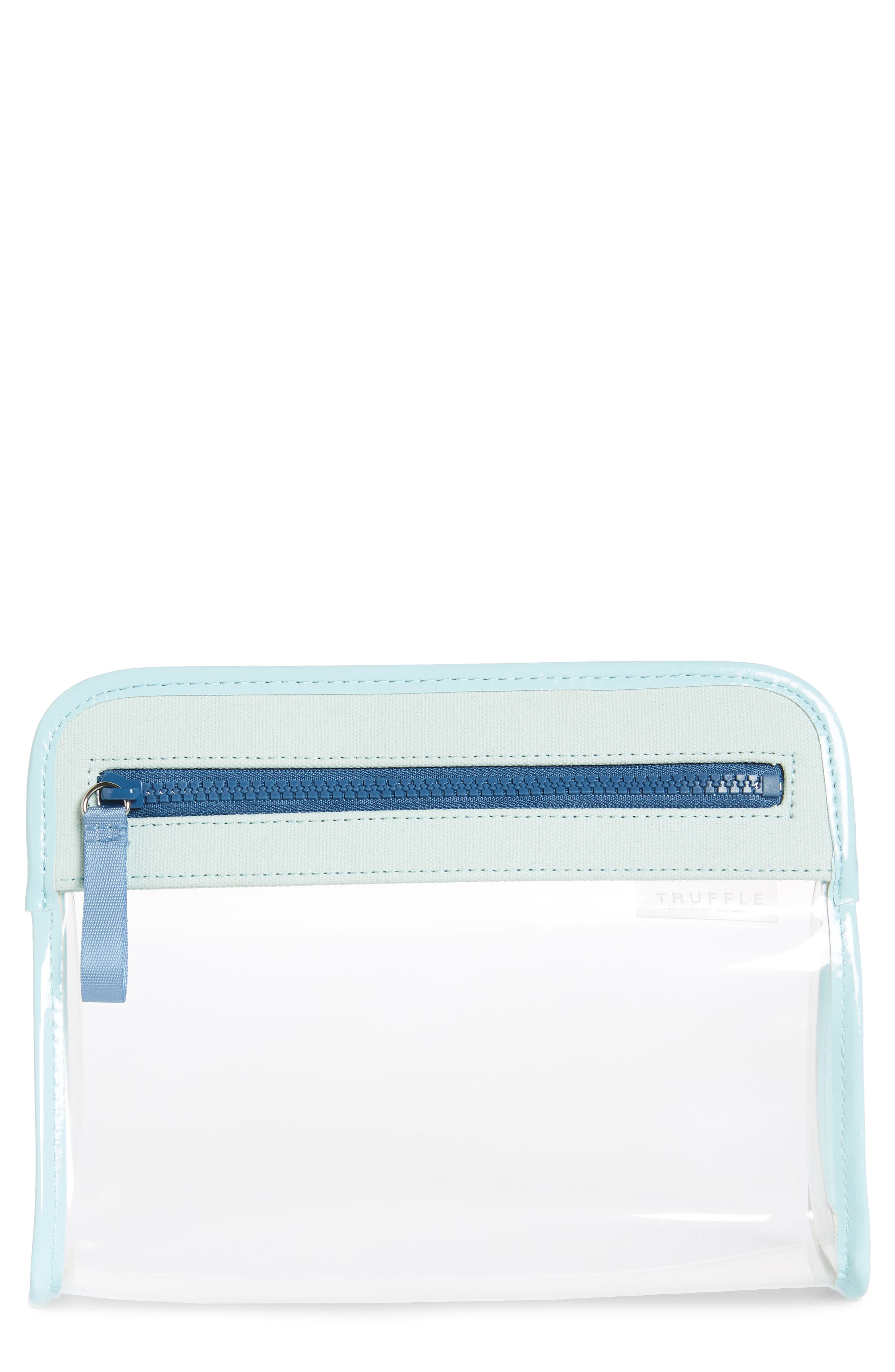 Small Clarity Clear Pouch, Main, color, SEAFOAM