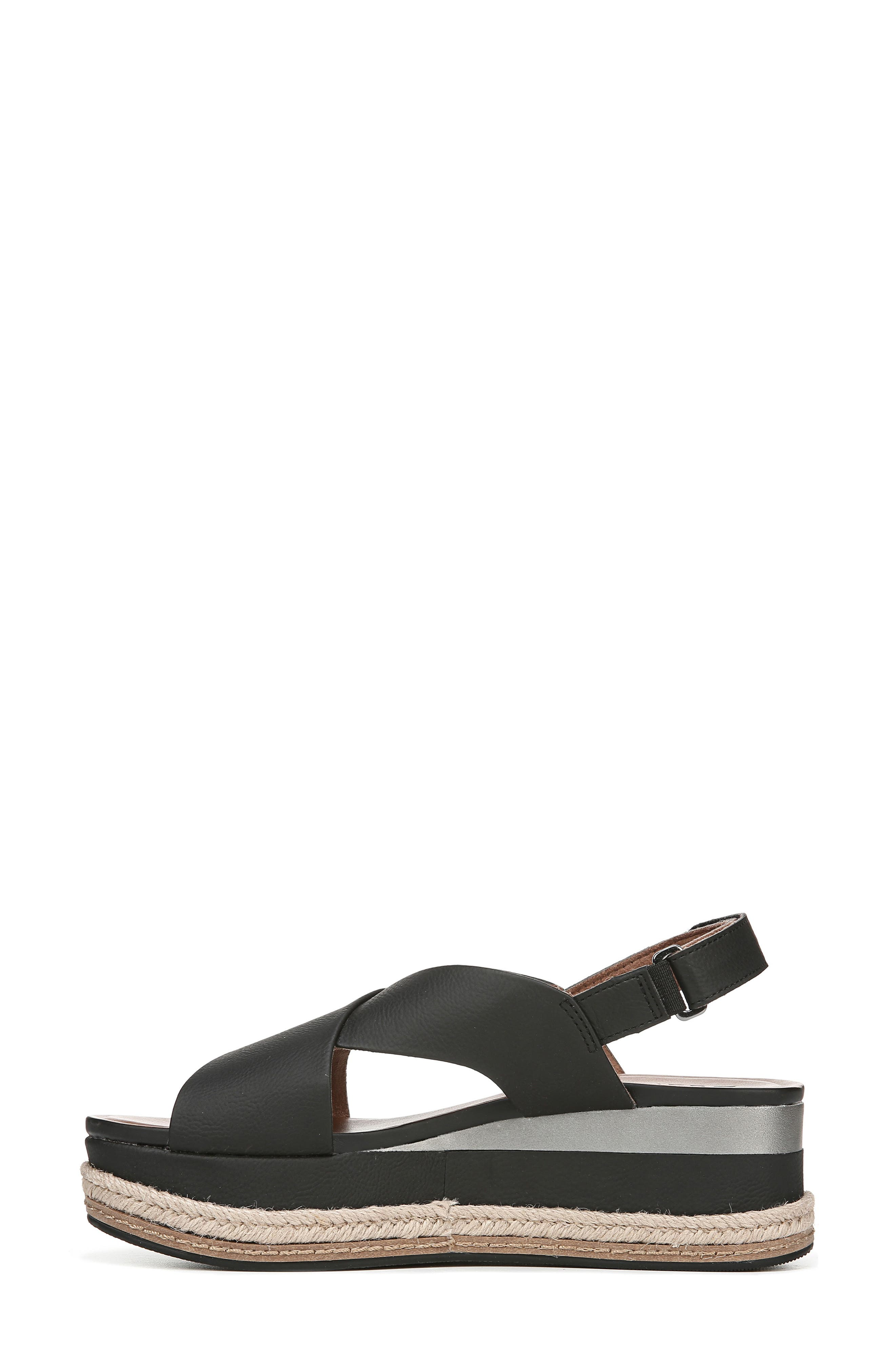 ,                             Baya Espadrille Wedge Sandal,                             Alternate thumbnail 9, color,                             BLACK NUBUCK LEATHER