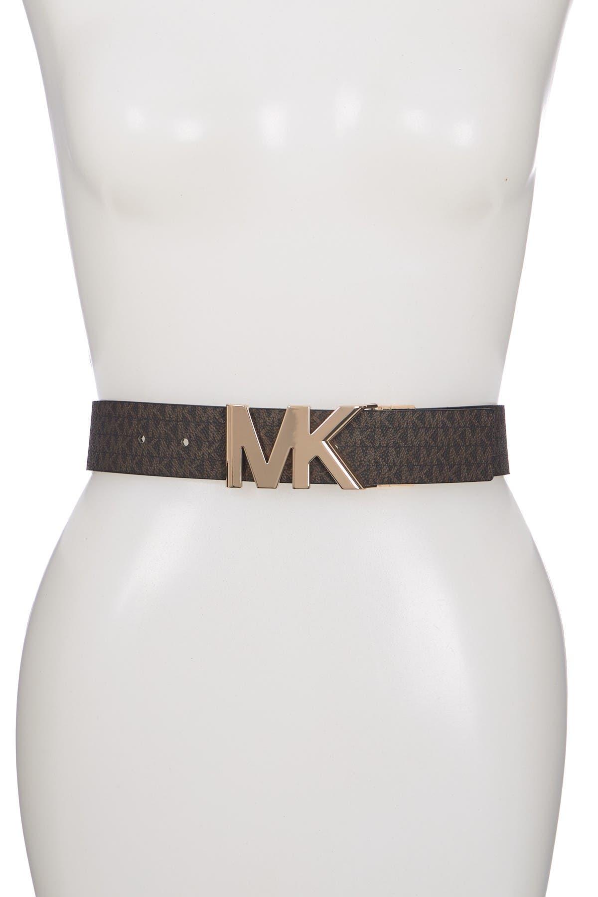 Image of Michael Kors Reversible Logo Print Belt