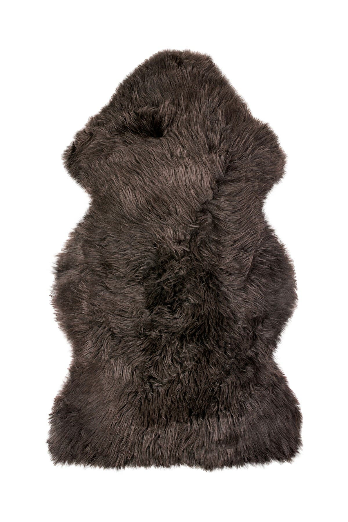 Image of Natural New Zealand Genuine Sheepskin Rug - 2ft x 3ft - Chocolate