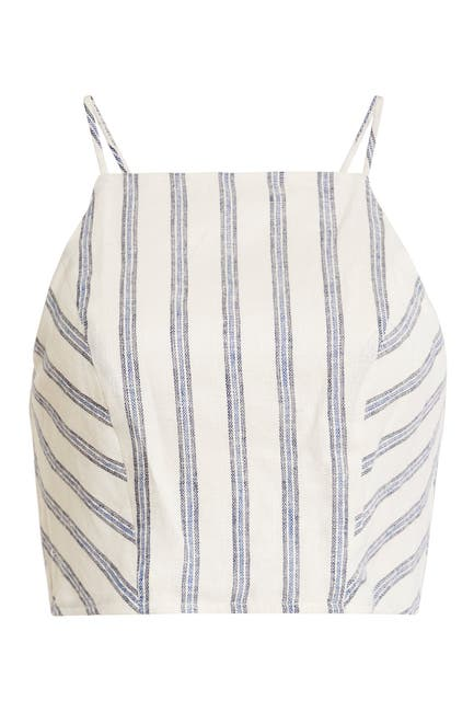 Image of BCBGeneration Stripe Woven Cropped Tank