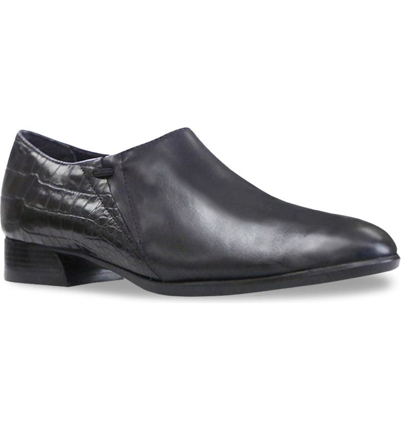 MUNRO Marteen Flat, Main, color, BLACK LEATHER