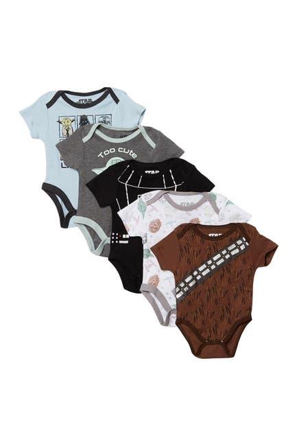 Image of HAPPY THREADS Star Wars Bodysuits - Set of 5