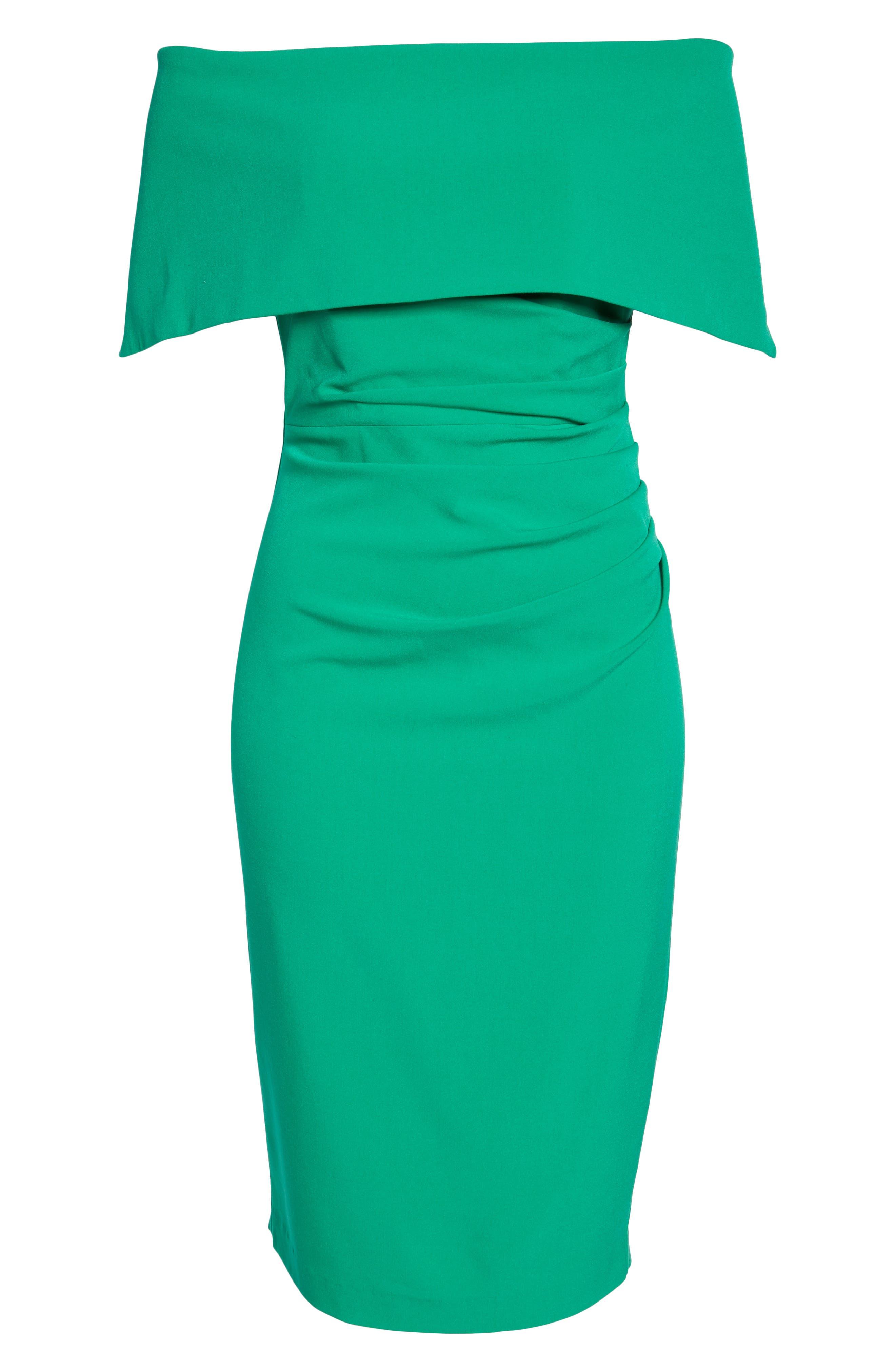 ,                             Popover Midi Dress,                             Alternate thumbnail 7, color,                             GREEN