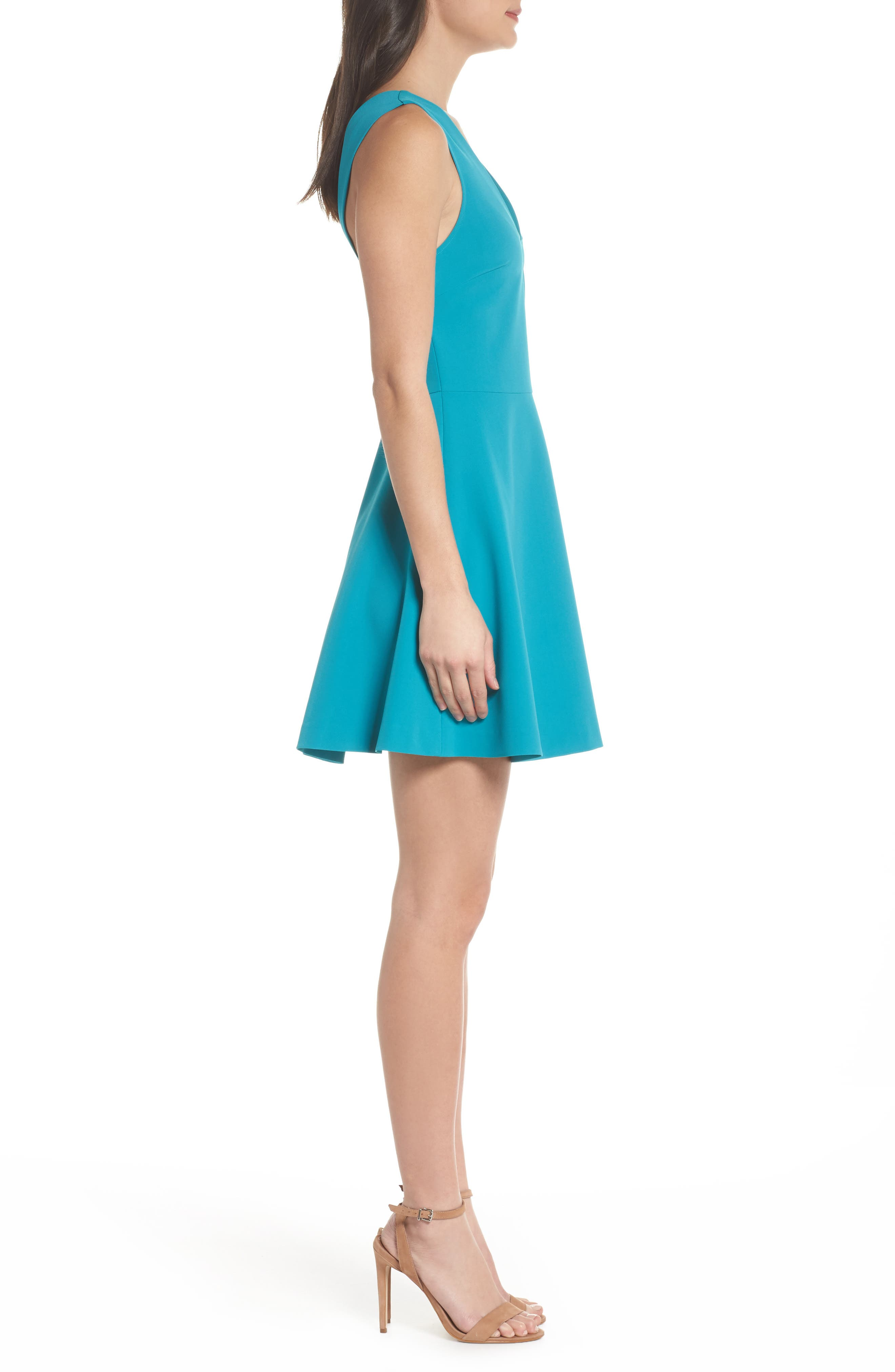 ,                             Bianca Back Cutout Fit & Flare Dress,                             Alternate thumbnail 37, color,                             420