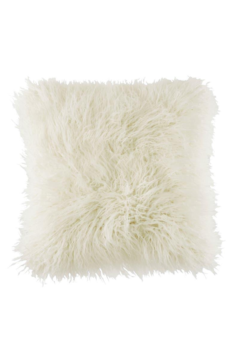 BCBGENERATION Faux Fur Pillow, Main, color, 100