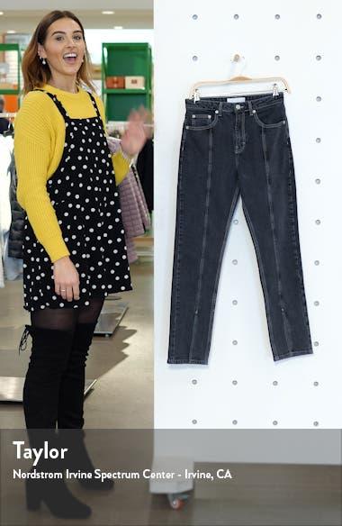 High Waist Split Hem Ankle Straight Leg Jeans, sales video thumbnail