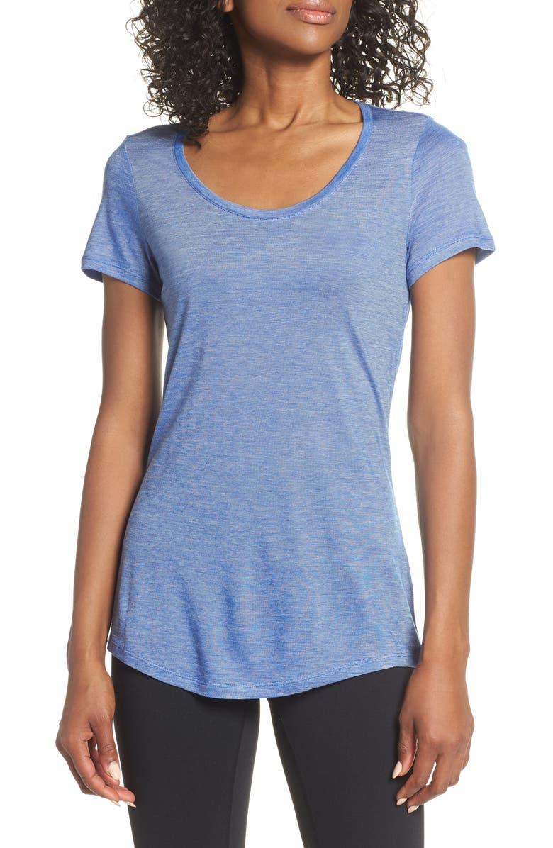 ICEBREAKER Cool-Lite<sup>™</sup> Sphere T-Shirt, Main, color, MARINE/ SNOW/ STRIPE