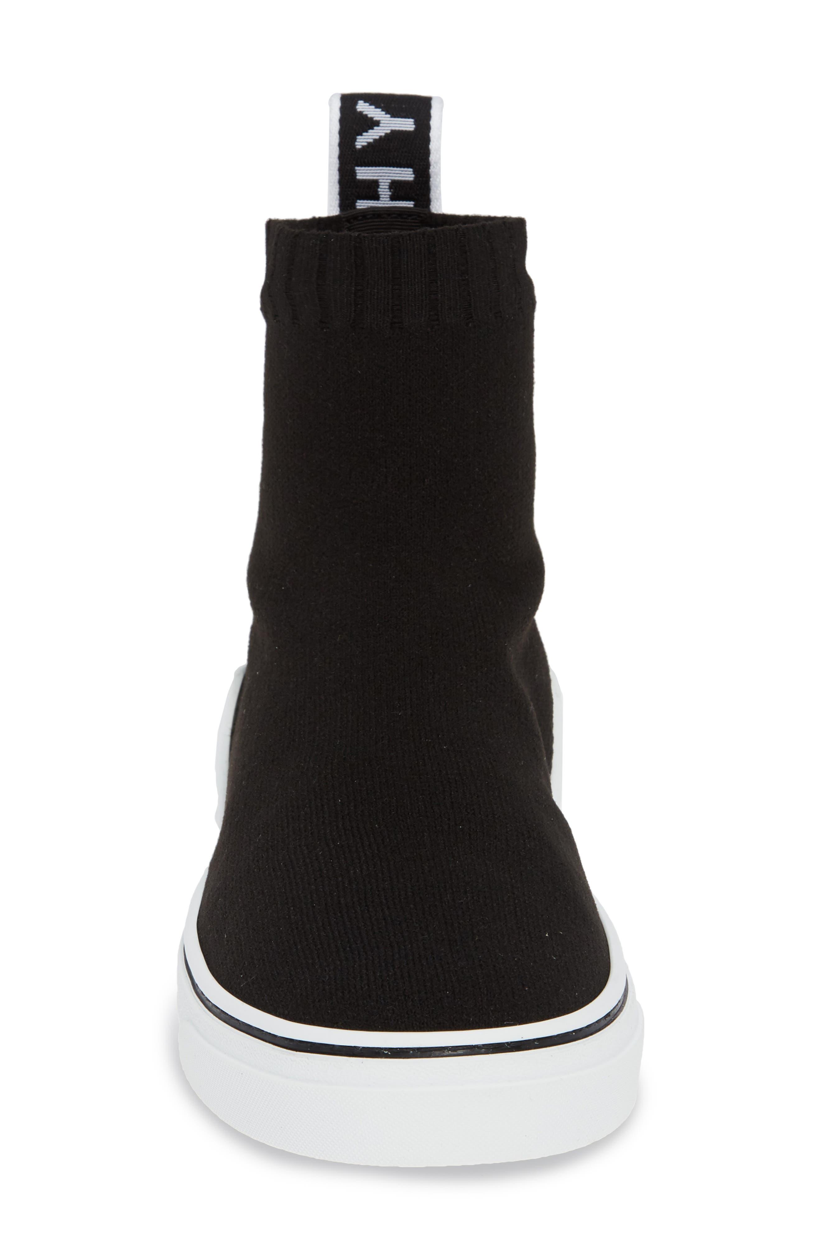 ,                             George V Hi Sock Sneaker,                             Alternate thumbnail 4, color,                             BLACK