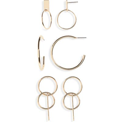 Bp. Set Of 3 Hoop Earrings
