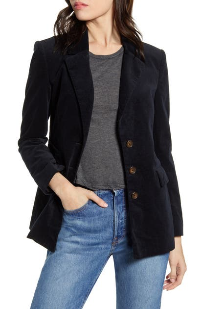 Current Elliott The Beaufort Blazer In Dark Navy