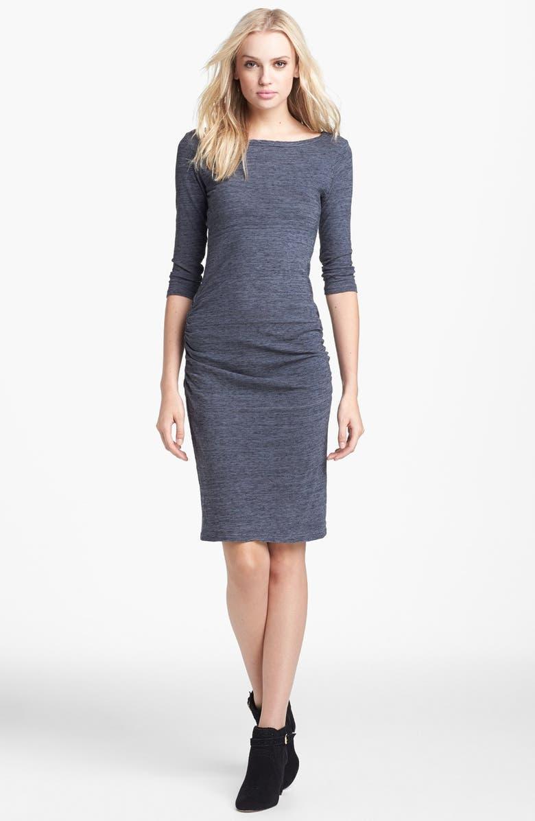 JAMES PERSE Jewel Neck Dress, Main, color, 020