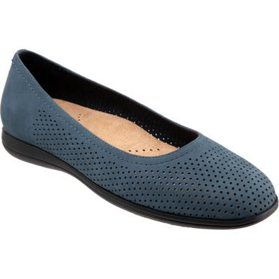 Trotters Darcey Skimmer Flat- Blue