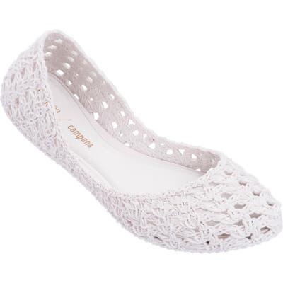Melissa Campana Croc Flat, White