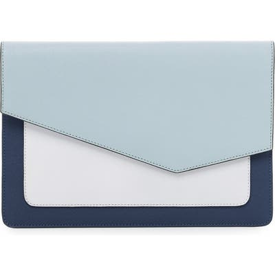 Botkier Cobble Hill Colorblock Leather Flap Clutch -