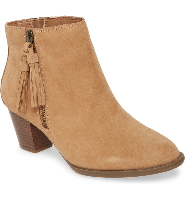 VIONIC Madeline Bootie, Main, color, WHEAT SUEDE