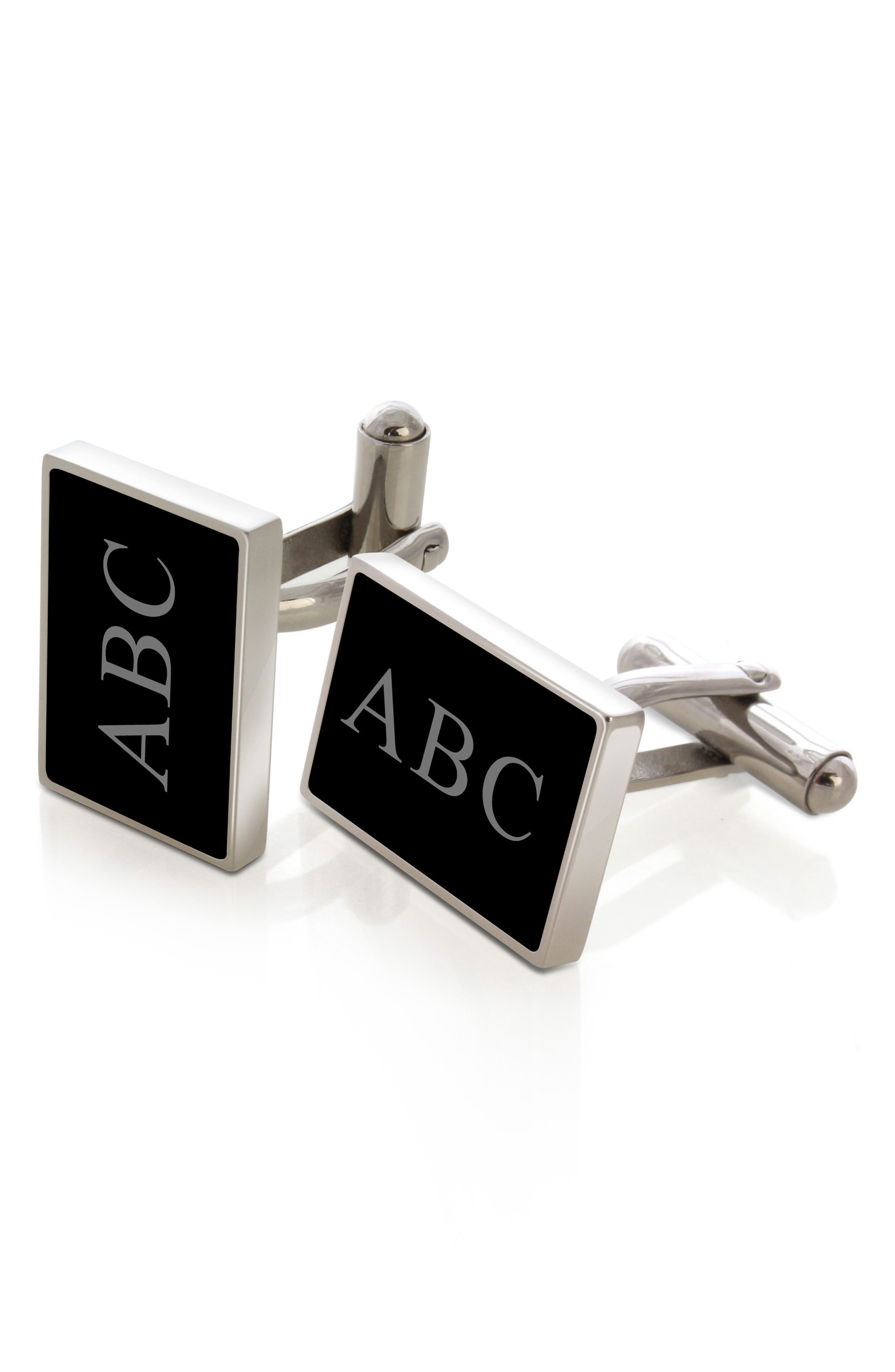 Women's M-Clip Personalized Stainless Steel Cuff Links