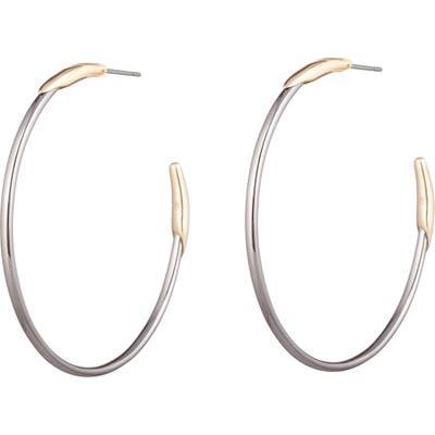 Alexis Bittar Two-Tone Hoop Earrings