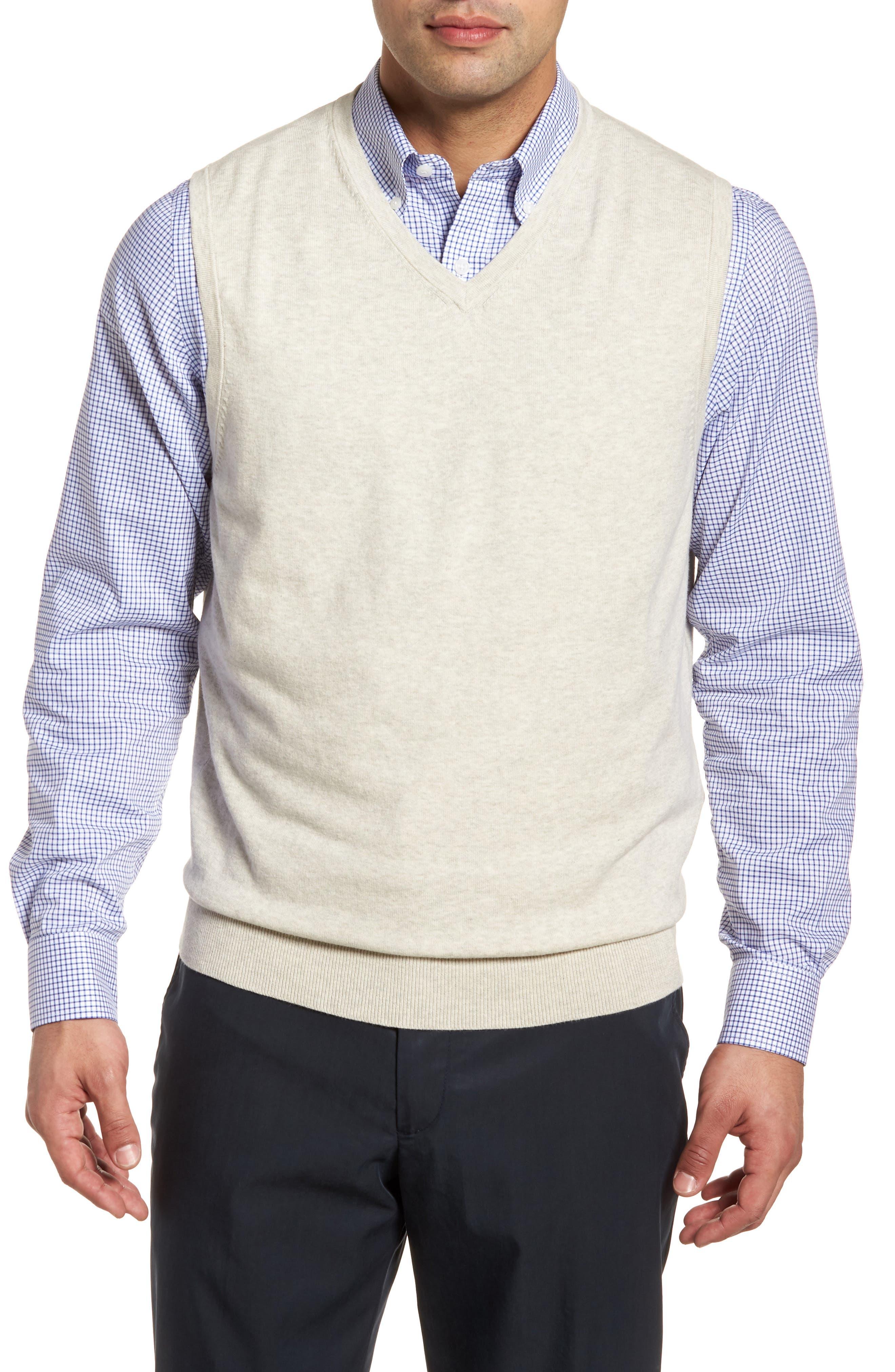 Cutter & Buck Lakemont Classic Fit Sweater Vest, Grey