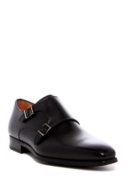 Image of Magnanni Carmo Leather Double Monk Strap Loafer - Wide Width Available