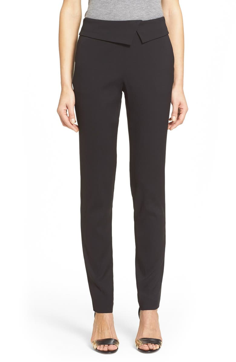 VERONICA BEARD 'Delray' Foldover Trousers, Main, color, 001