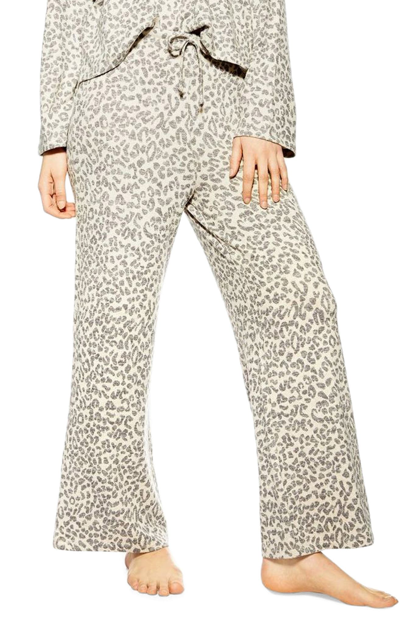 ,                             Animal Pajama Pants,                             Main thumbnail 1, color,                             BROWN MULTI