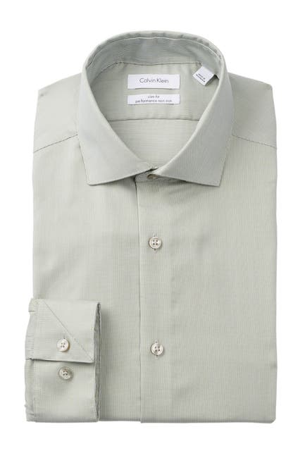 Image of Calvin Klein Antibes Slim Fit Non-Iron Dress Shirt