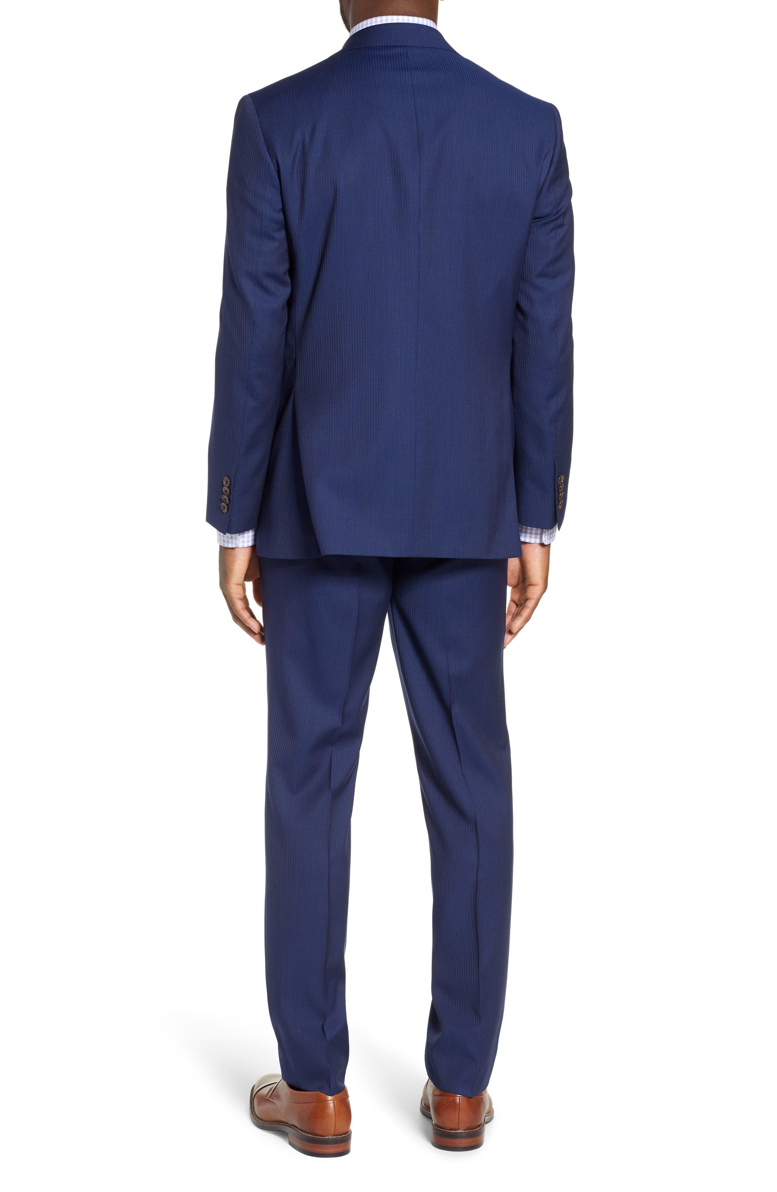 ,                             Ryan Classic Fit Stripe Wool Suit,                             Alternate thumbnail 2, color,                             410
