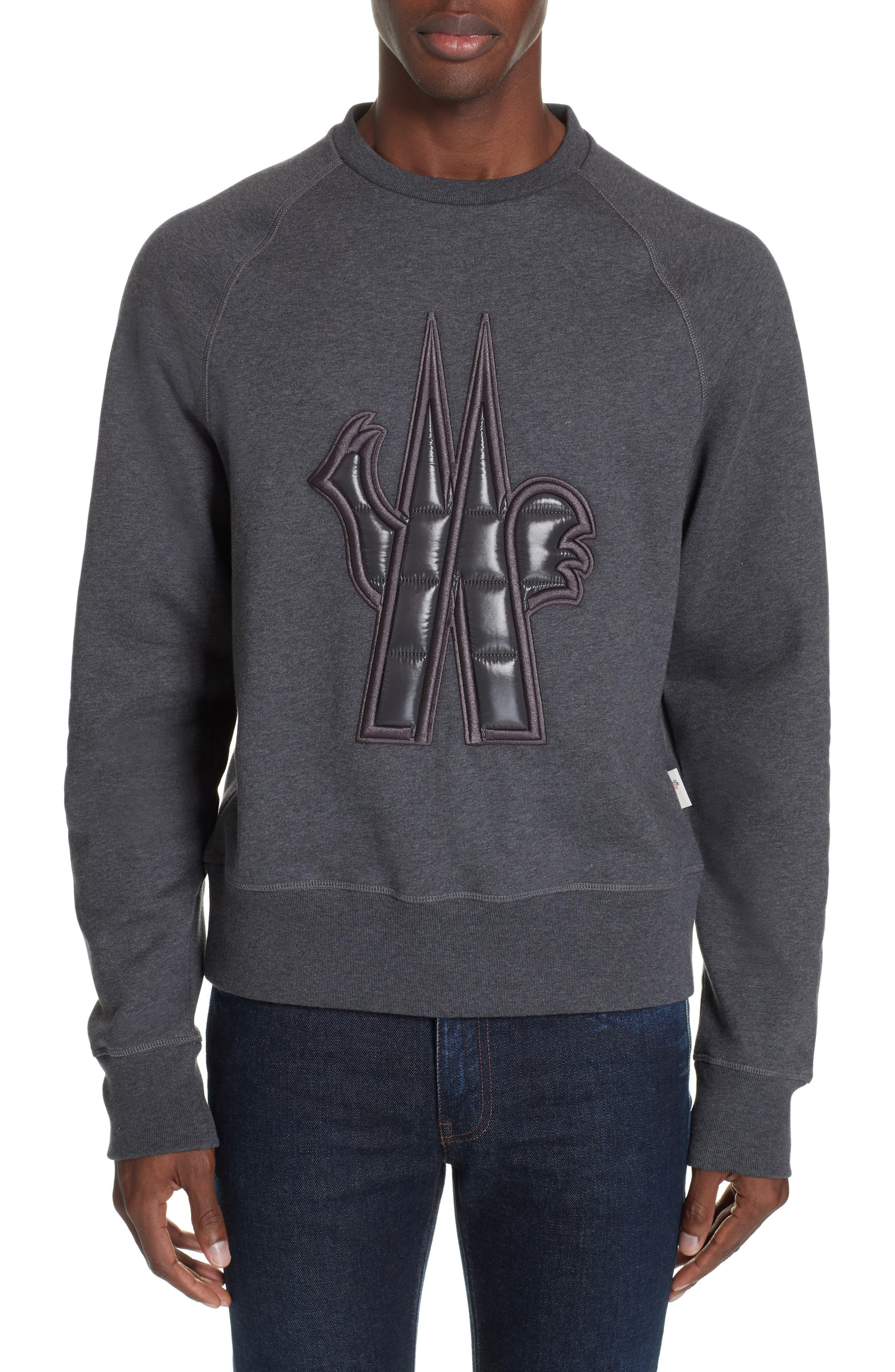 Logo Sweatshirt, Main, color, GREY