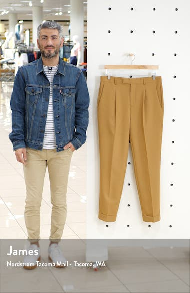 Bridge Skinny Fit Pleated Dress Pants, sales video thumbnail