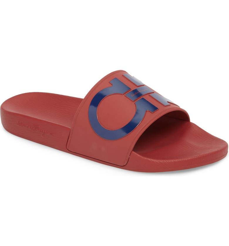 629a350bea6c27 Salvatore Ferragamo Groove Slide Sandal (Men) | Nordstrom