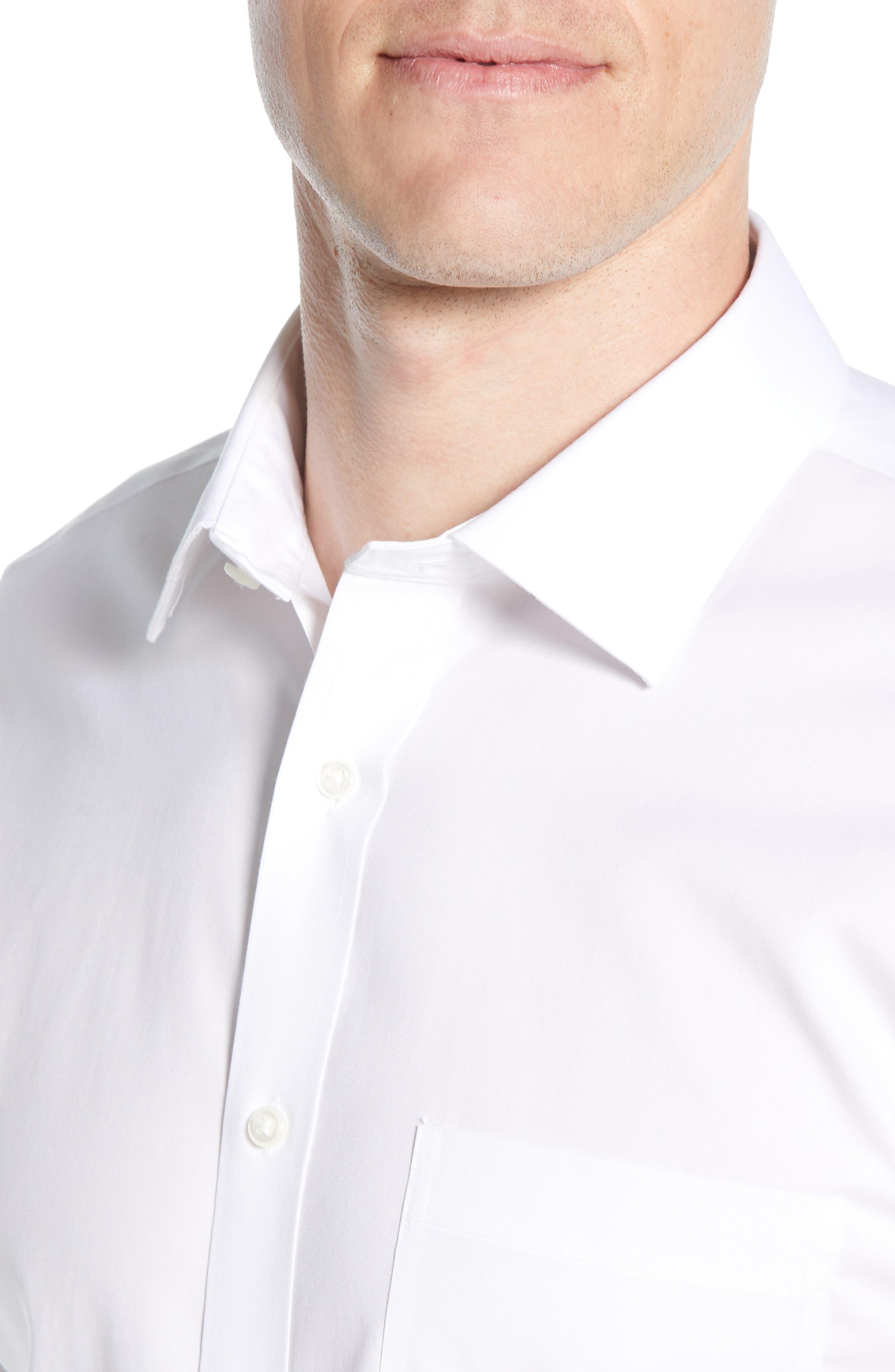 ,                             Smartcare<sup>™</sup> Trim Fit Solid Dress Shirt,                             Alternate thumbnail 2, color,                             WHITE BRILLIANT