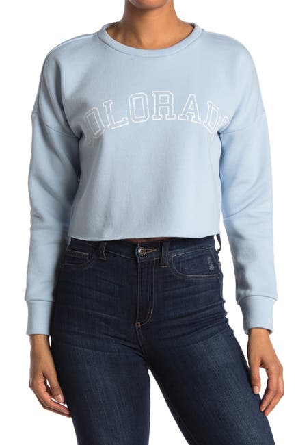 Image of Abound Cropped Graphic Pullover Sweatshirt